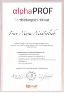 alphaPROF Grundlagen-Zertifikat