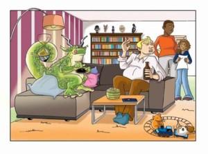 Lurs im Wohnzimmer