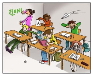 Chaos im Klassenzimmer / @ LegaKids Stiftungs-GmbH / Eva Hoppe