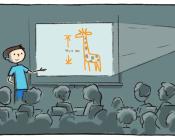 Schüler präsentiert