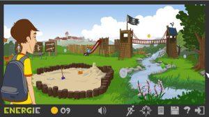 Bildschirmfoto aus dem Lernspiel Lurs-Abenteuer