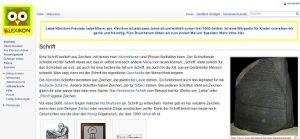 Online-Enzyklopädie für Kinder