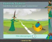 Screenshot Zankende Zauberer / Lesespiel von LegaKids