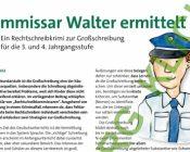 """Rechtschreibkrimi """"Kommissar Walter ermittelt"""""""