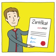Projekt alphaPROF Zertifikat