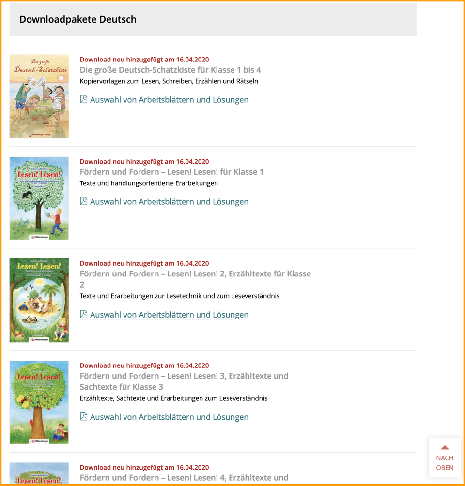 Lernpakete Mildenberger