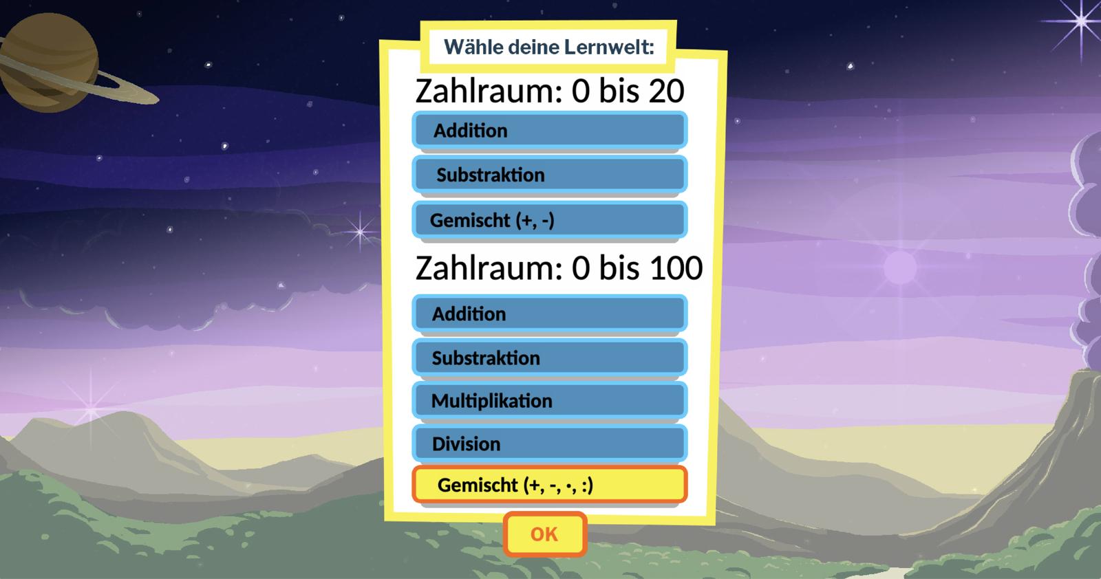 MatheLursi – Lernspiel rund ums Rechnen
